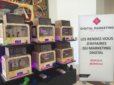 mur d'imprimantes 3D